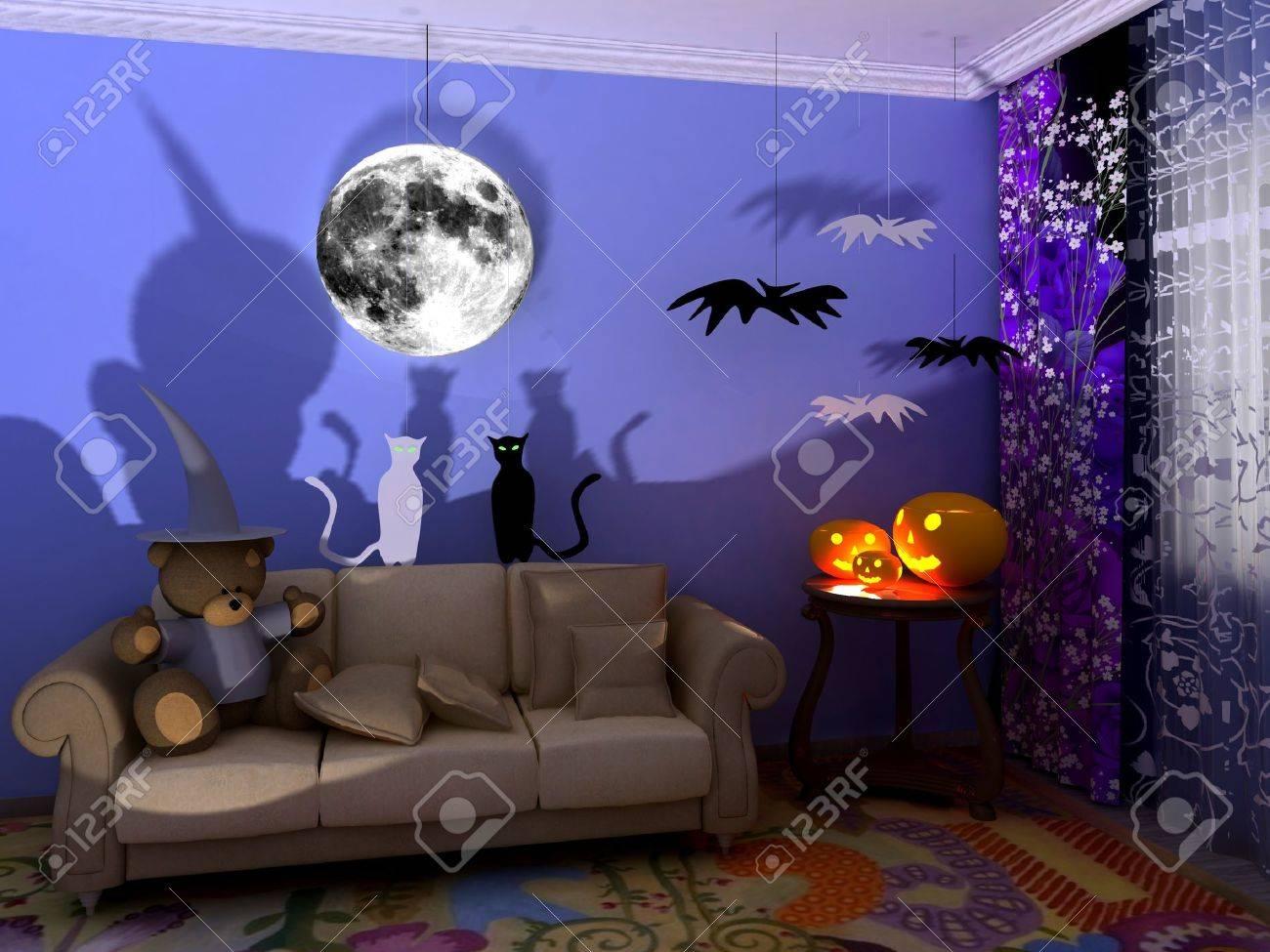 halloween babyroom child room stock photo 10715041 - Halloween Room