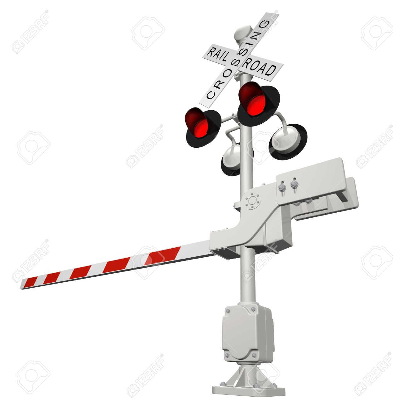 Railroad crossing Stock Photo - 6472846