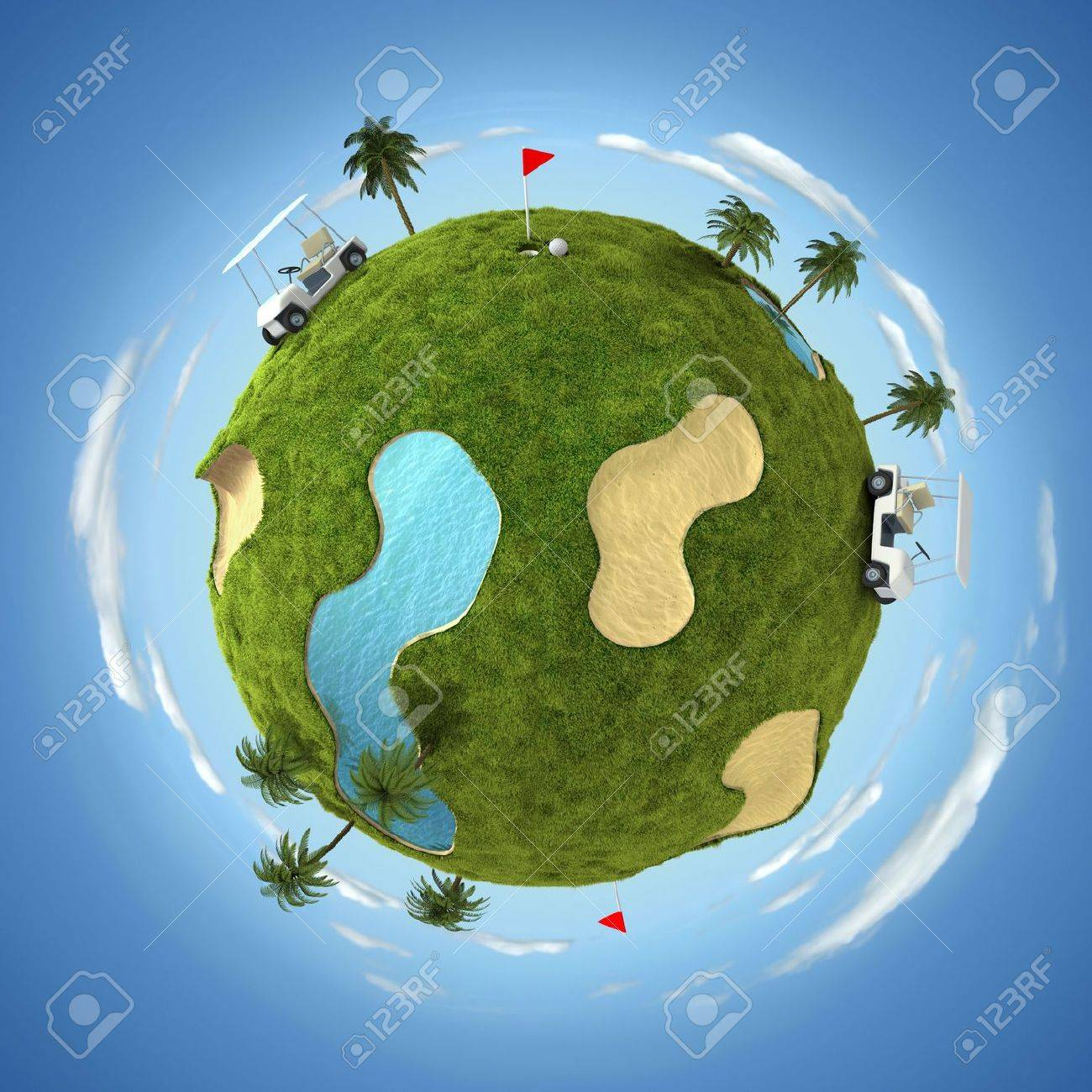 World of golf Stock Photo - 6567235
