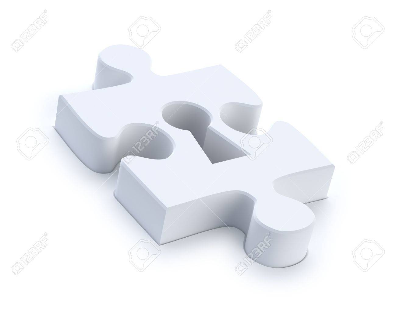 Puzzle with keyhole Stock Photo - 6798564