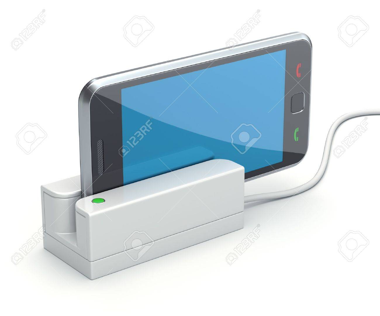 Mobile phone in the card reader Stock Photo - 12905847