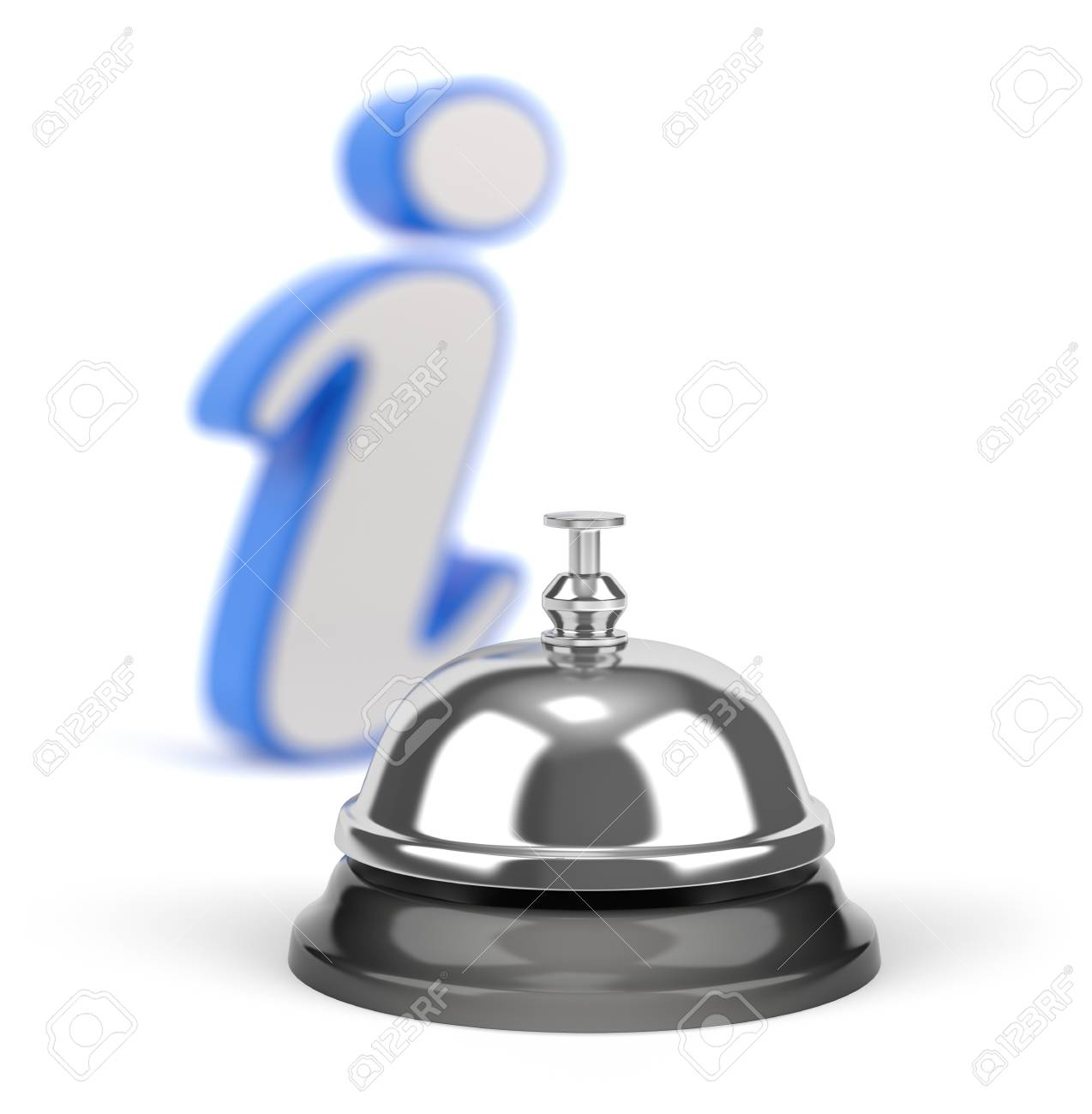 Service bell with information sign and strong DOF Stock Photo - 13070686