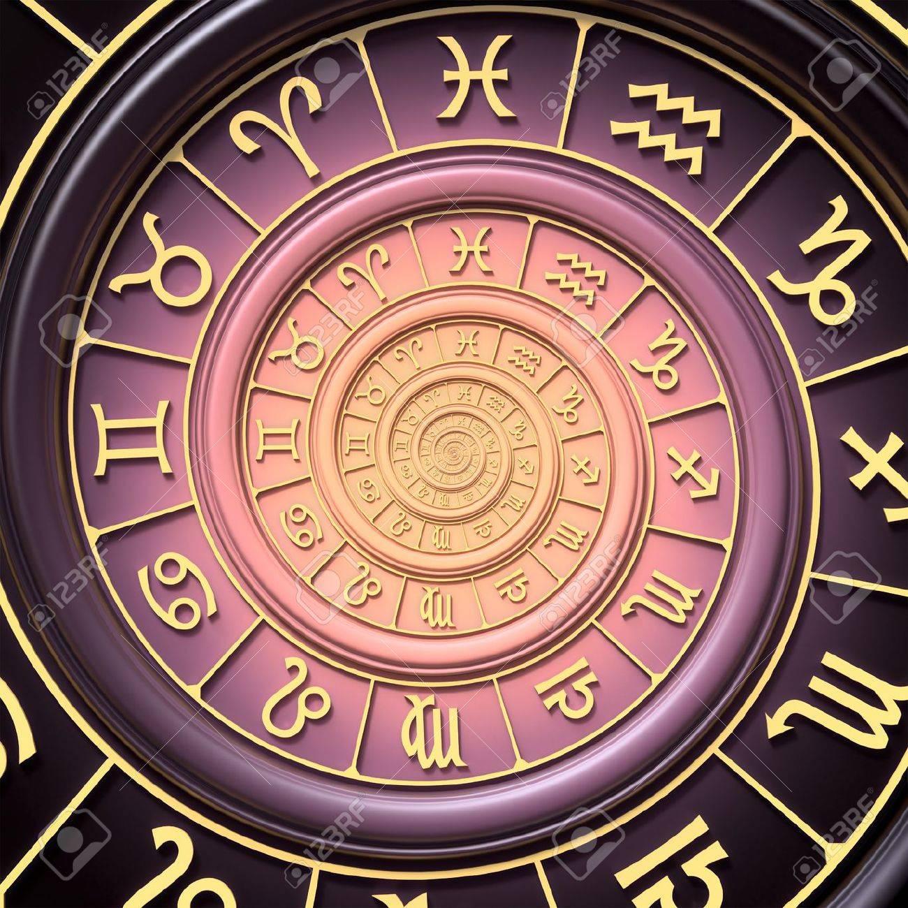 Zodiac spiral Stock Photo - 18583438