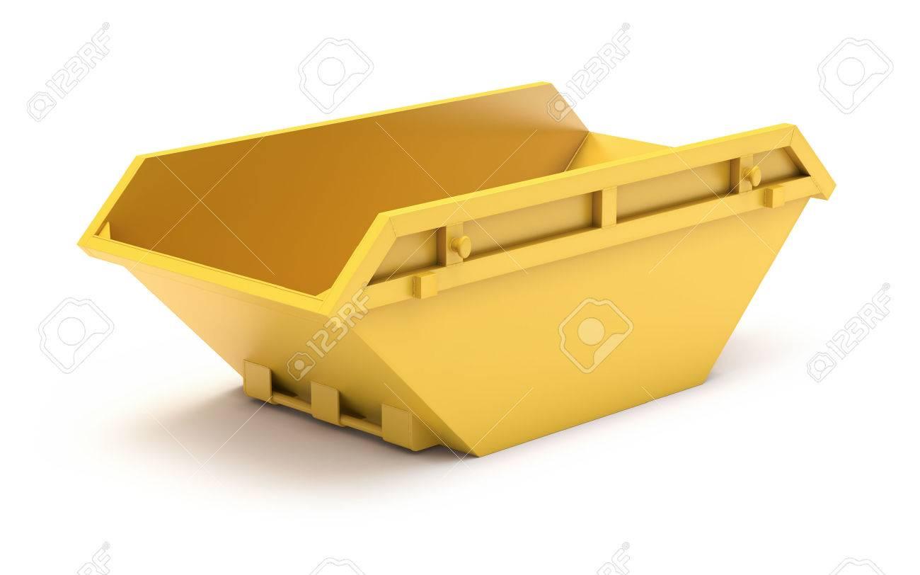 Yellow waste skip - 51098522