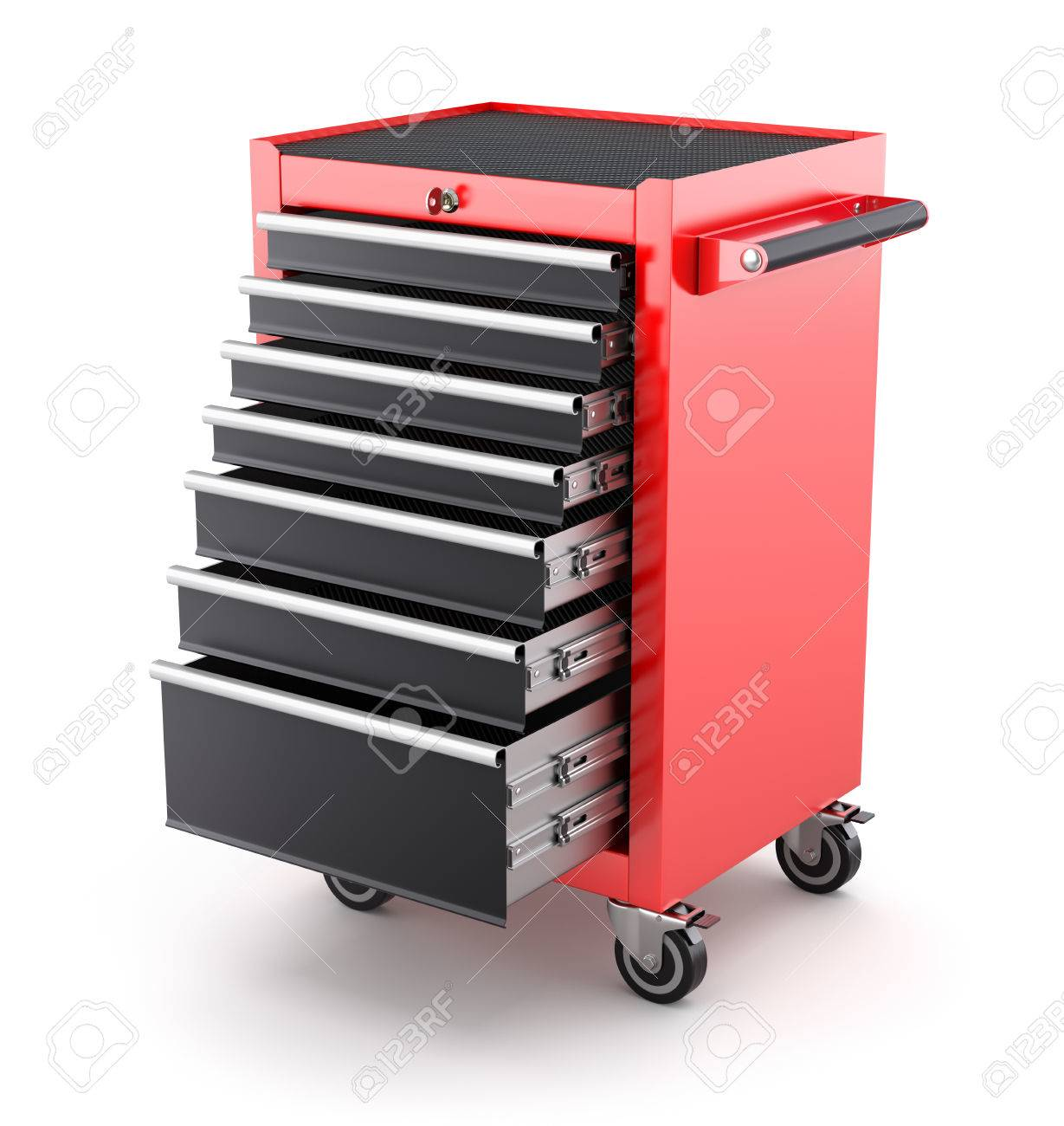 Tool Cabinets on white background - 3D illustration - 55117607