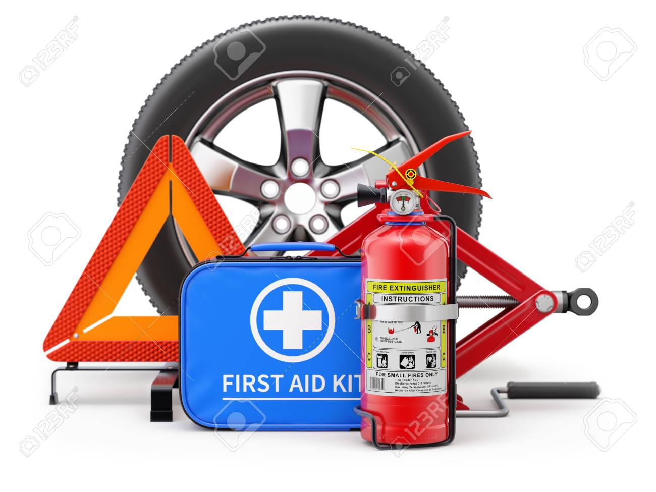 Car First Aid Kit >> Stock Illustration