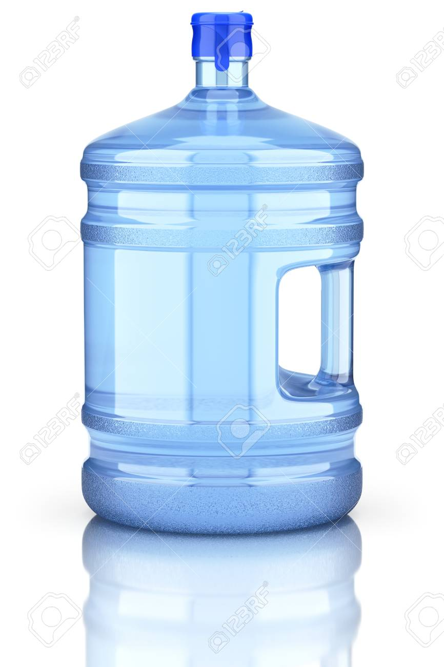 Water Dispenser Bottle With Cap And Handle - 3D Illustration Stock Photo,  Picture And Royalty Free Image. Image 95628037.