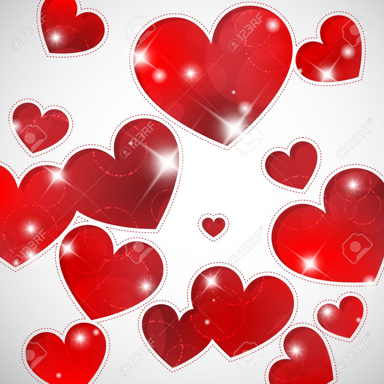 valentine s background with hearts shapes and lights royalty free