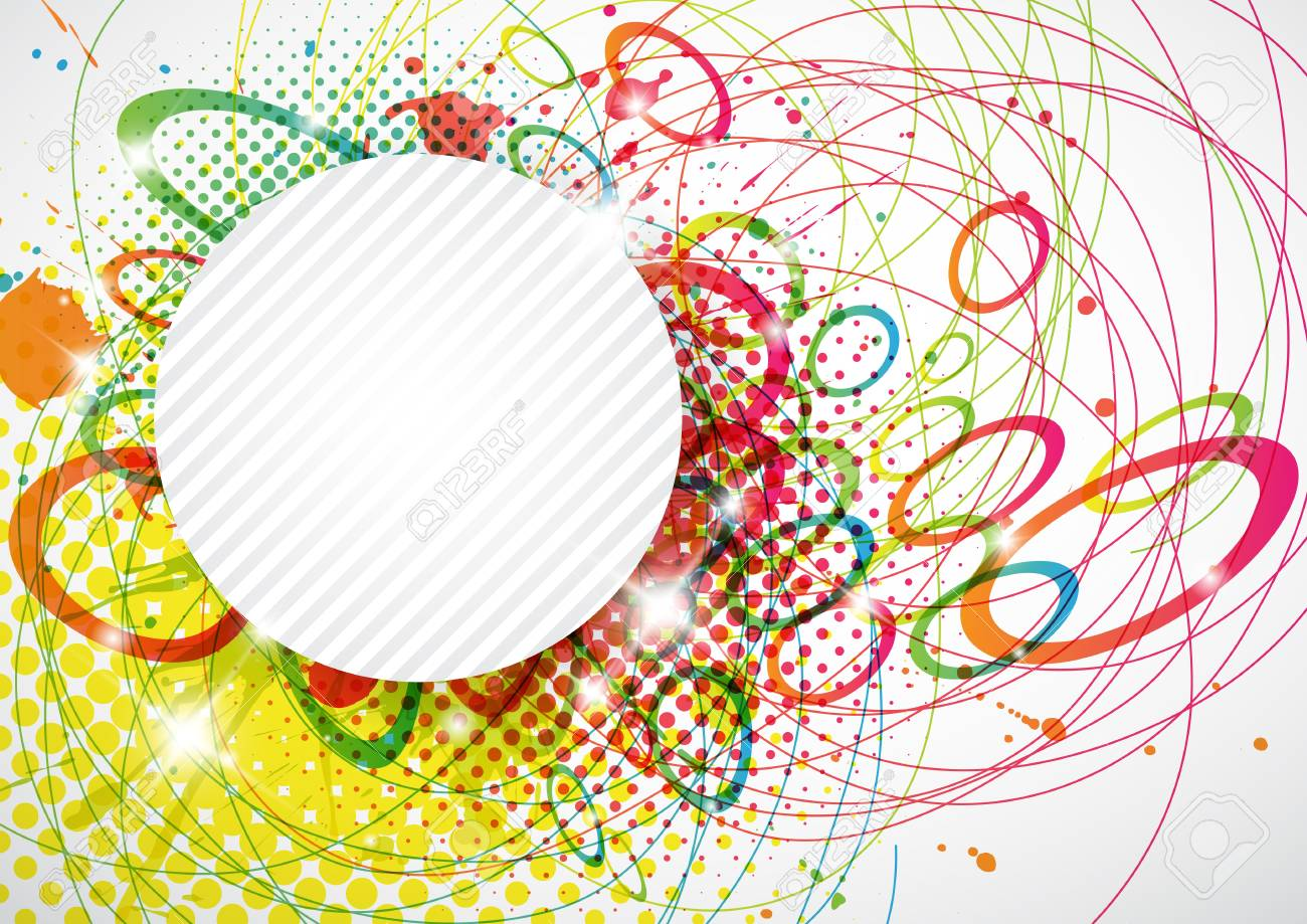Abstract background with circles and copy space Stock Vector - 12083057