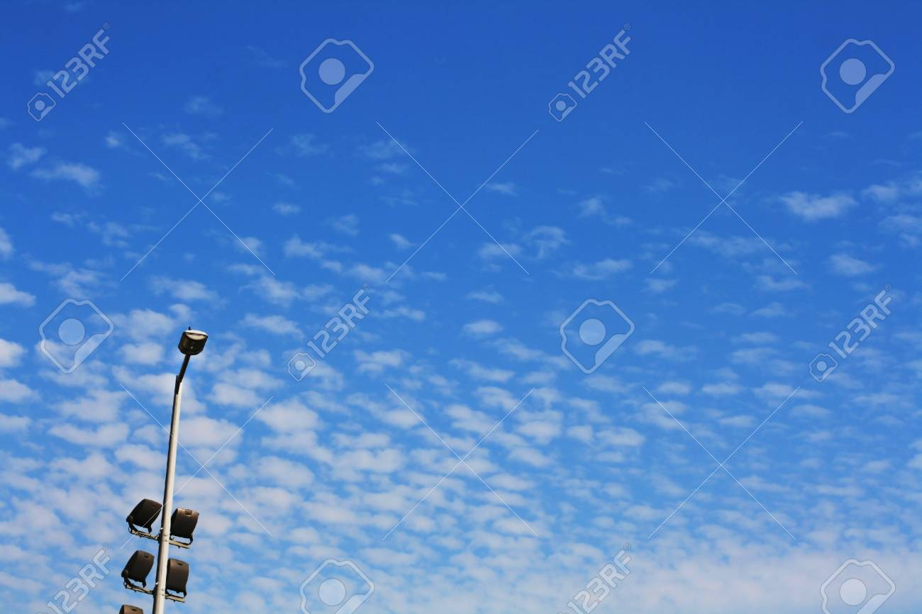 lantern on blue sky with white clouds Stock Photo - 7860763