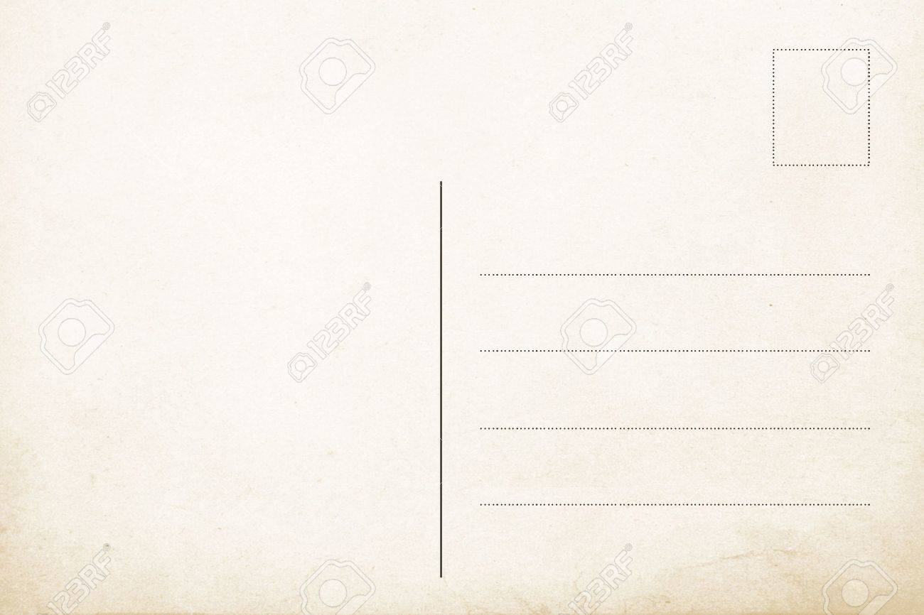 Back side of old postal card Stock Photo - 8582709