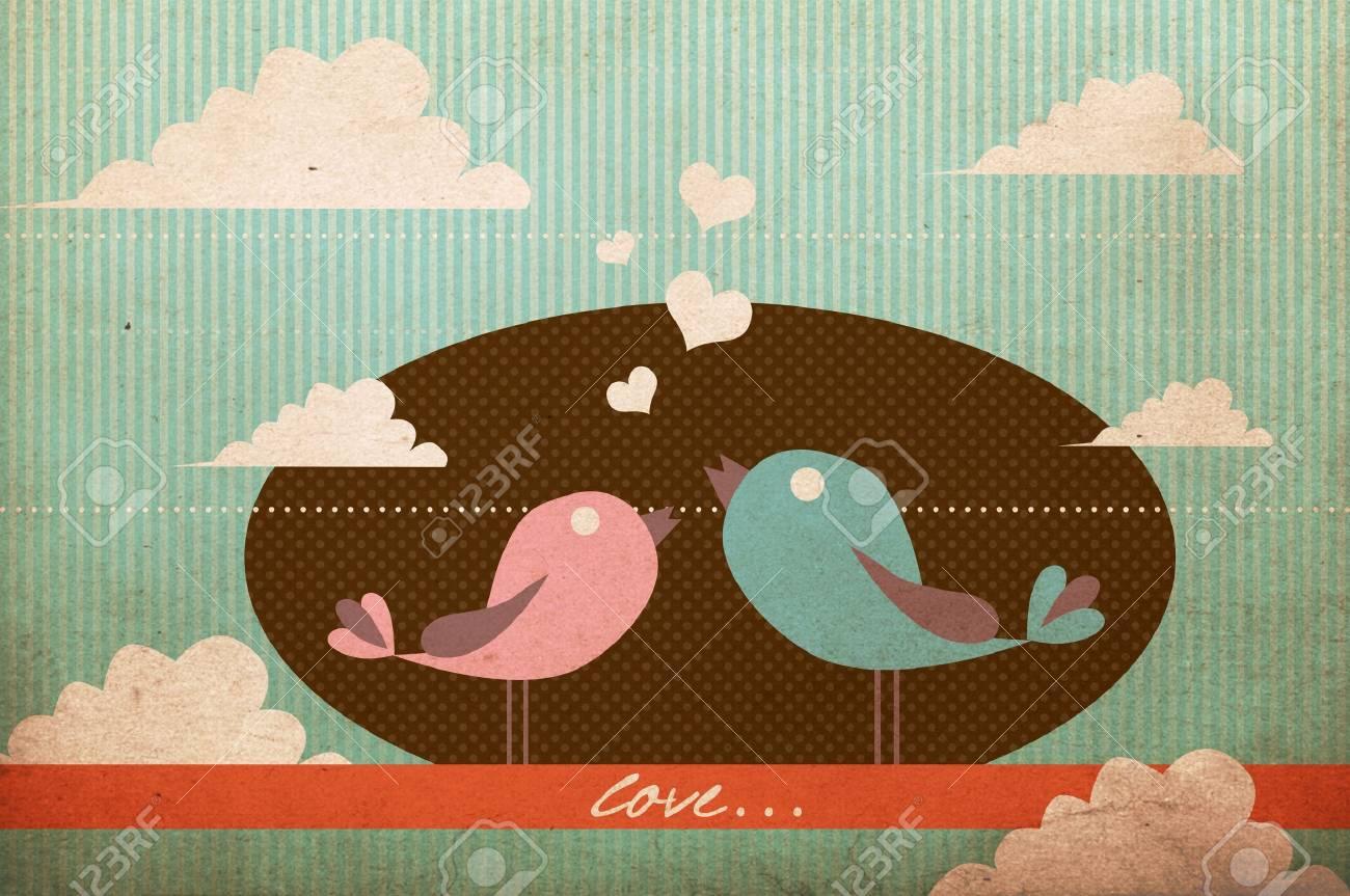 art image with birds Stock Photo - 17371761