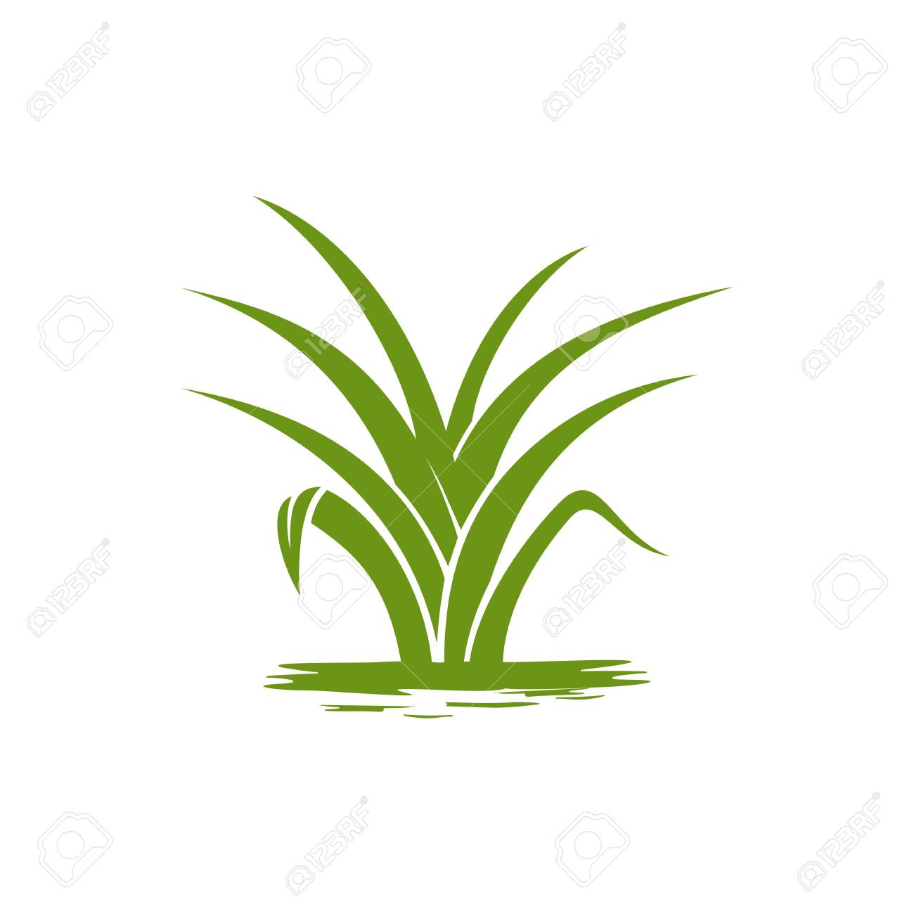 green nature logo template grass vector royalty free cliparts vectors and stock illustration image 94114974 123rf com