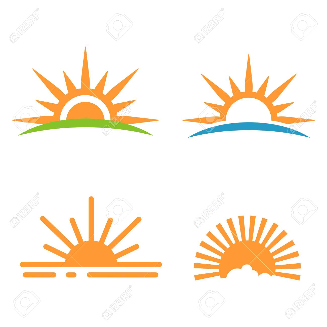 sunrise icon sunset icon vector illustration royalty free cliparts vectors and stock illustration image 94117648 123rf com