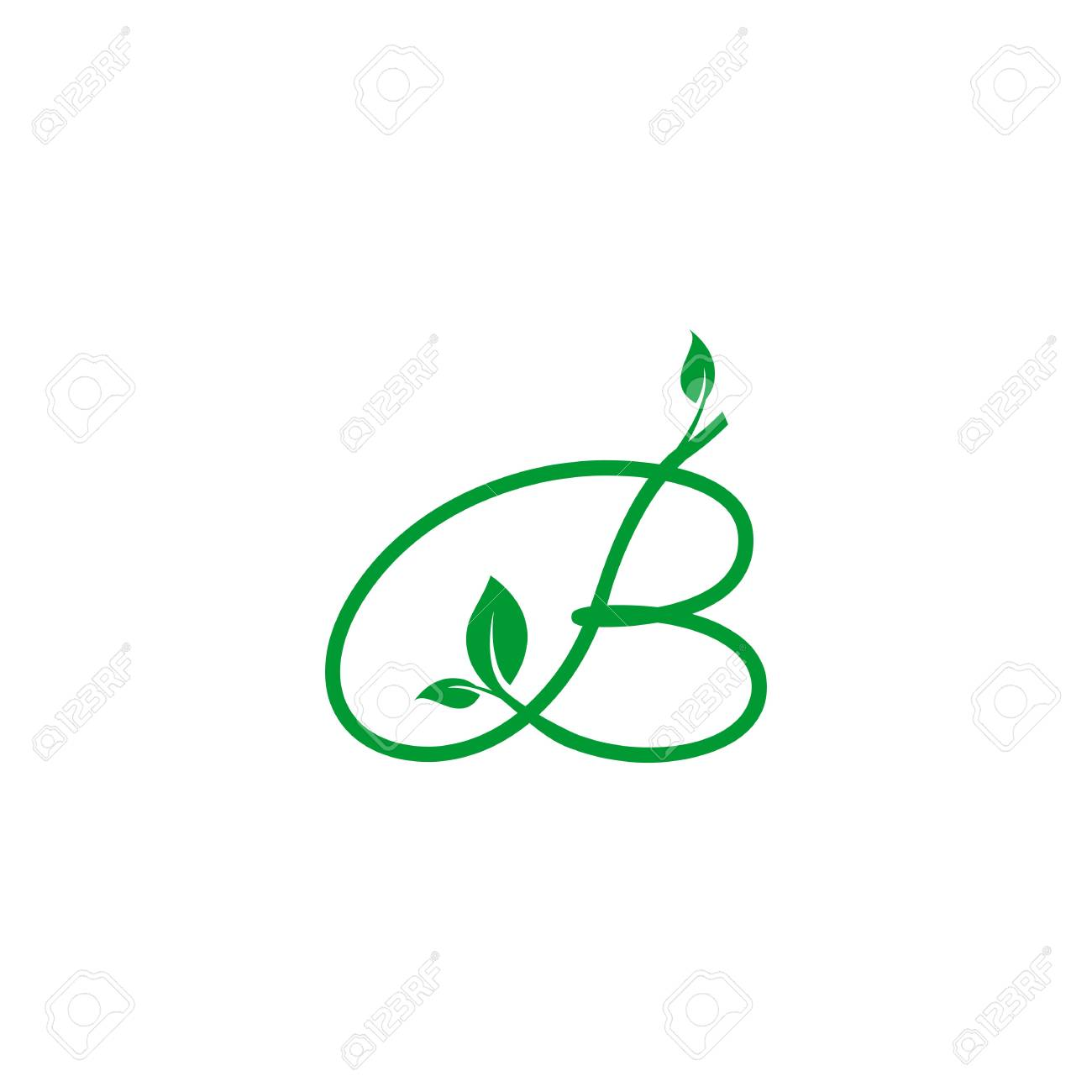 A concept logo leaf letter b natural green leaf symbol initials a concept logo leaf letter b natural green leaf symbol initials n icon design biocorpaavc Gallery