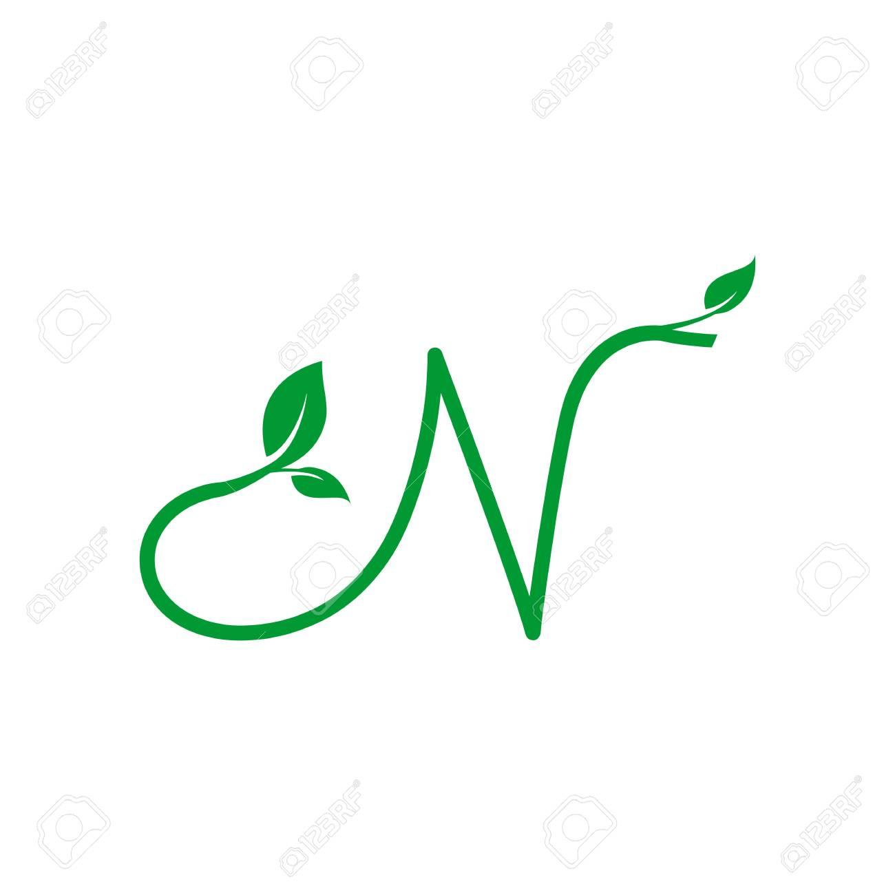 A concept logo leaf letter n natural green leaf symbol initials a concept logo leaf letter n natural green leaf symbol initials n icon design biocorpaavc Gallery