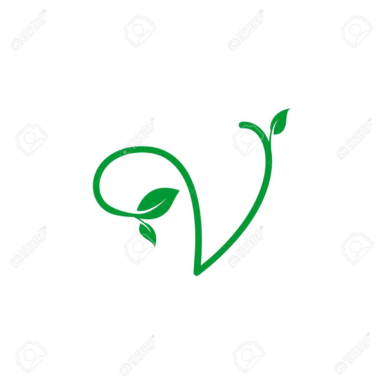 A concept logo leaf letter v natural green leaf symbol initials a concept logo leaf letter v natural green leaf symbol initials n icon design biocorpaavc Gallery