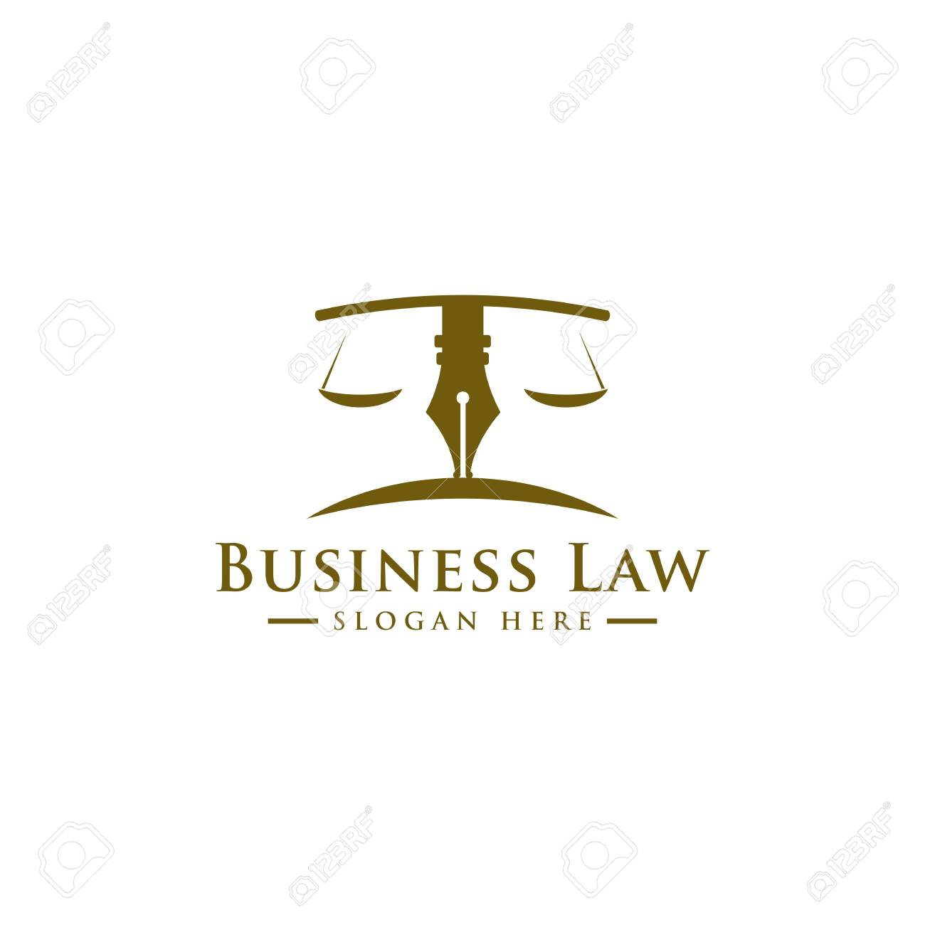 Luxury Law Logo Law Office Lawyer Services Vector Logo Template