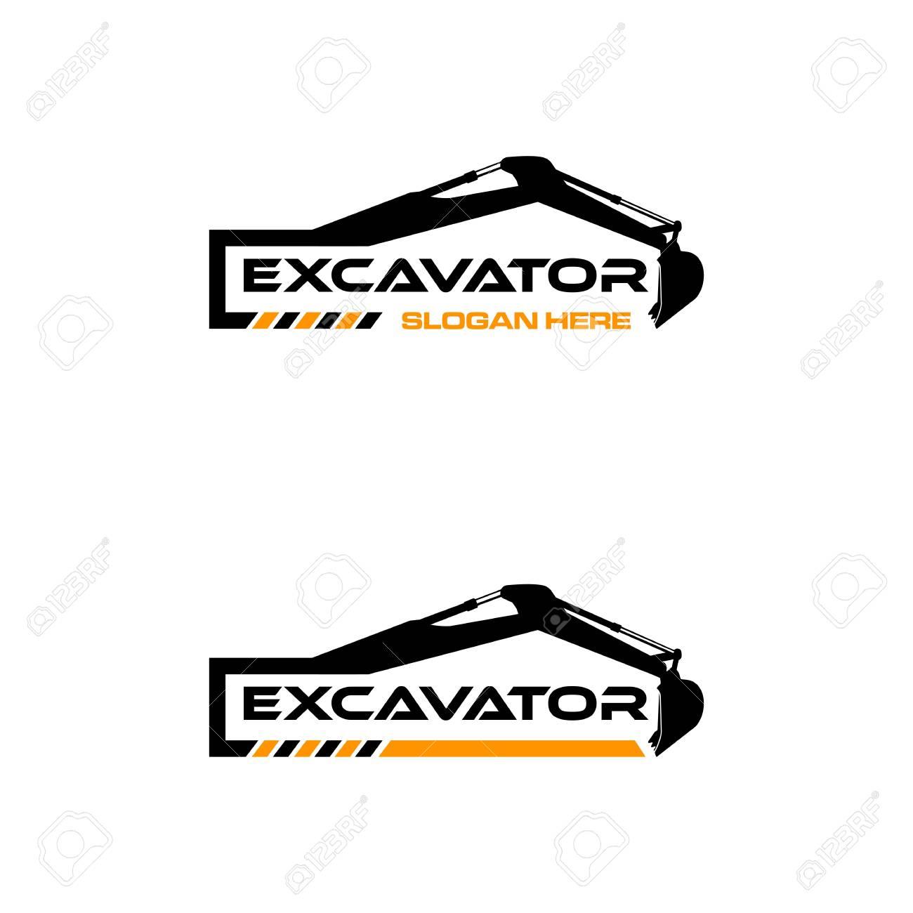 Excavator Vector icon Template. construction, vector illustration - 97840740