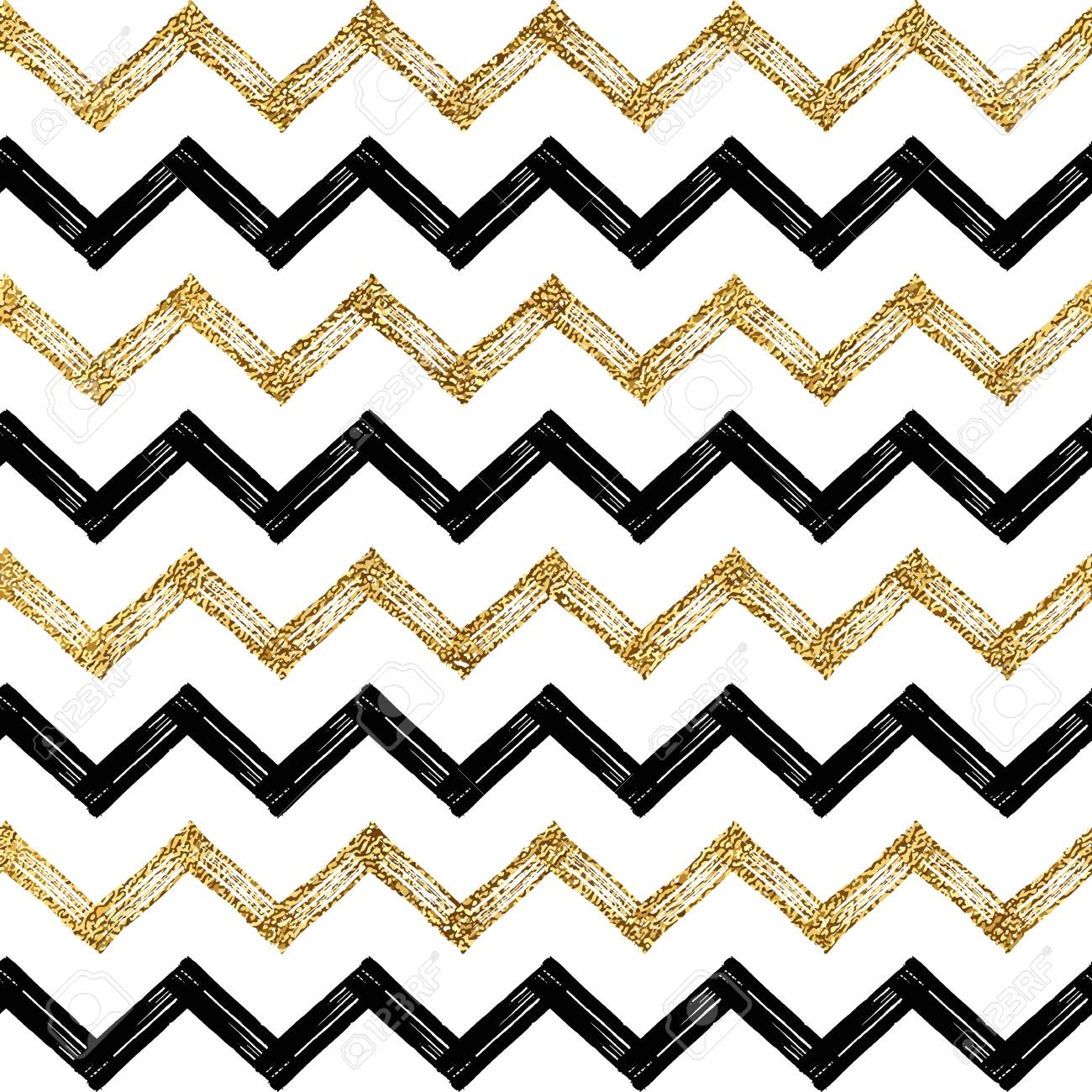 seamless pattern of black gold zigzag chevron golden and black rh 123rf com  chevron pattern vector download