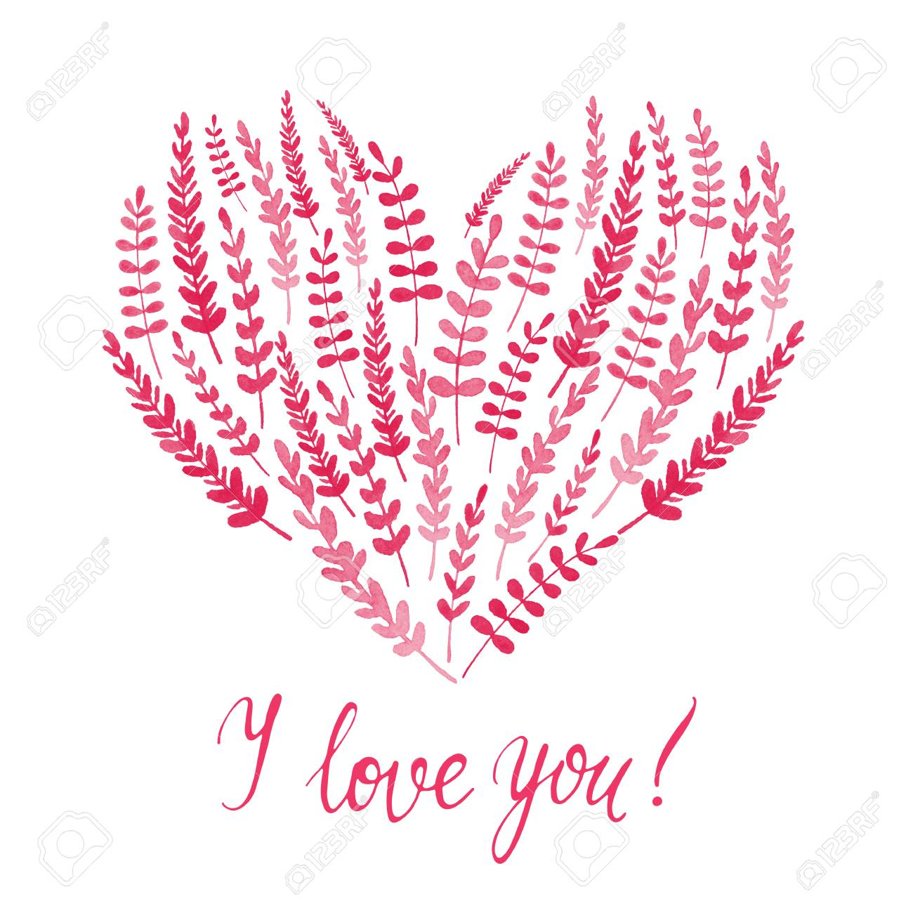 Happy Valentines Day Greeting Card With Pink Floral Heart And