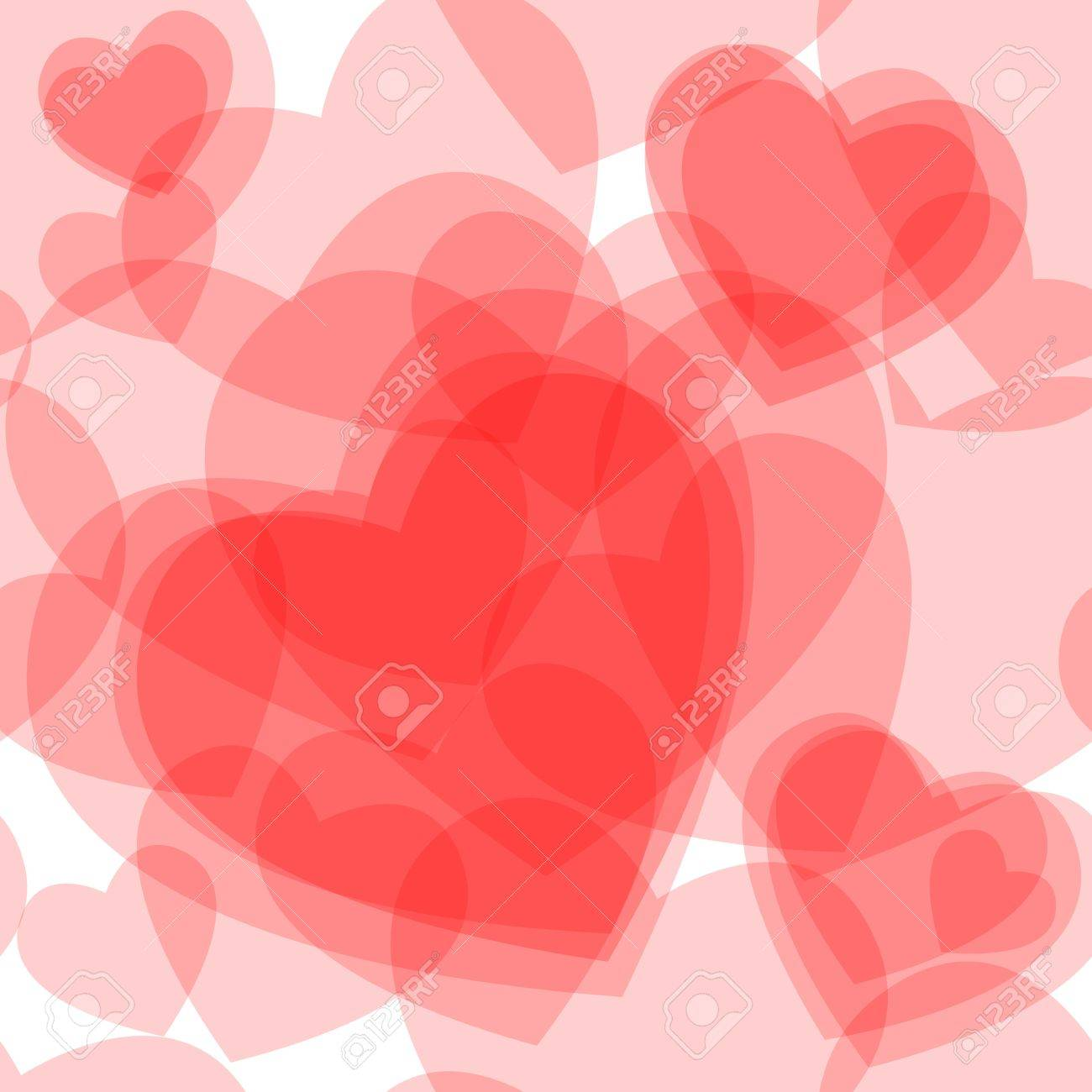 Seamless pattern made of cute transparent heart symbols overlaid seamless pattern made of cute transparent heart symbols overlaid beautiful love or valentines day card biocorpaavc Choice Image