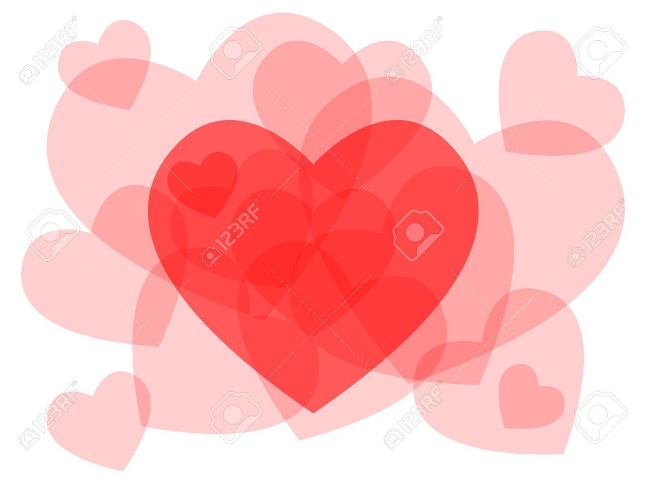 Cute transparent heart symbols overlayed beautiful love or cute transparent heart symbols overlayed beautiful love or valentines day card stock vector biocorpaavc Choice Image