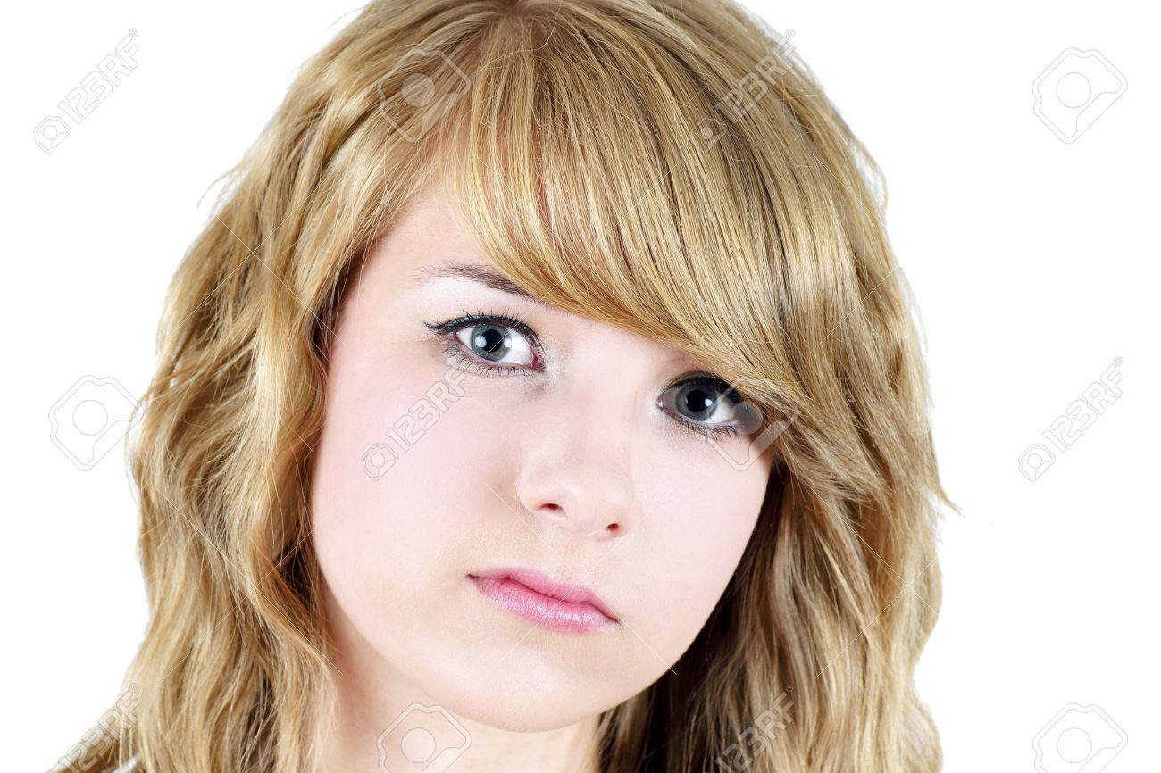 Sad Face Or Depressed Young Blond Teenager Girl Great For Suicide Or Abuse Awareness