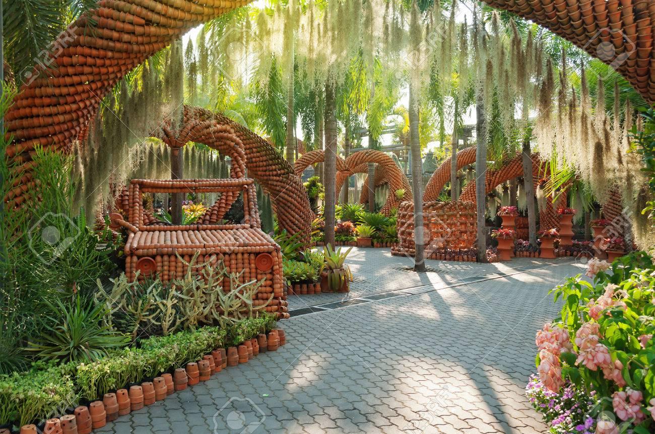 Tropical Garden Nong Nooch Pattaya Thailand Stock Photo, Picture And ...