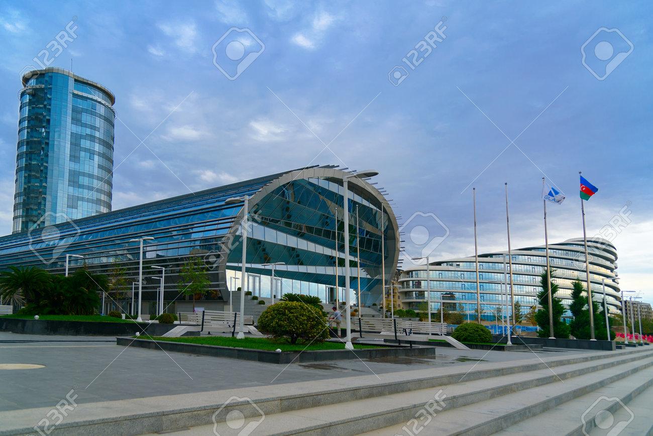 Baku Azerbaijan September 12 2016 Building Of Qafqaz Baku