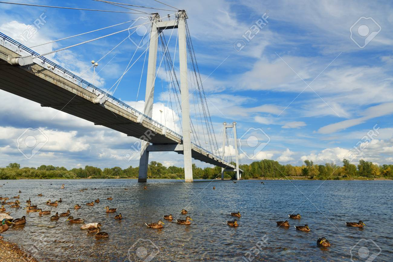 The bridge over Kacha in Krasnoyarsk will be open in September 9