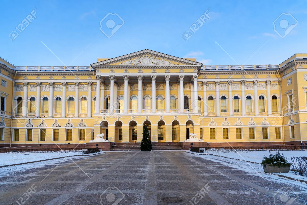 State Russian Museum  Mikhailovsky Palace in winter in Saint