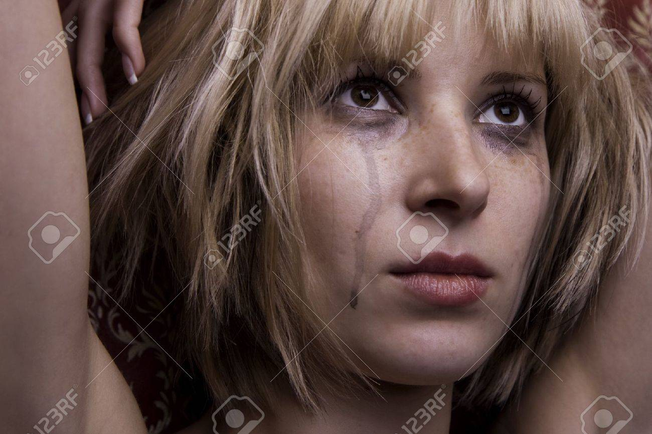 Image of a beautiful blonde in tears Stock Photo - 4204258