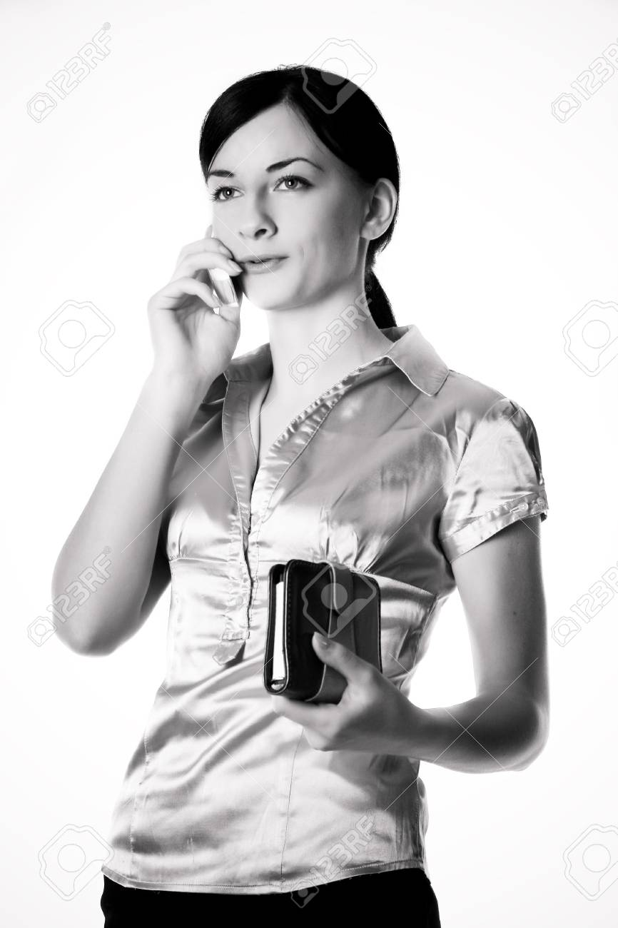 Image of a girl who is talking on a mobile Stock Photo - 4414309