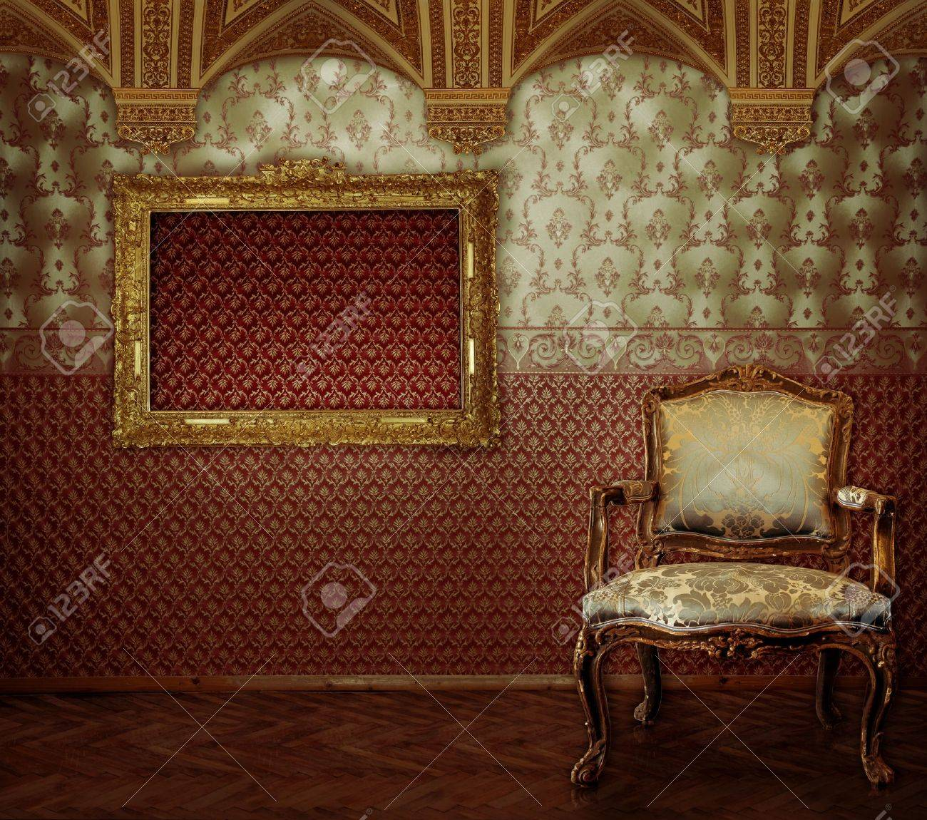 Images of the luxurious  interior with gold in a vintage style Stock Photo - 7624257