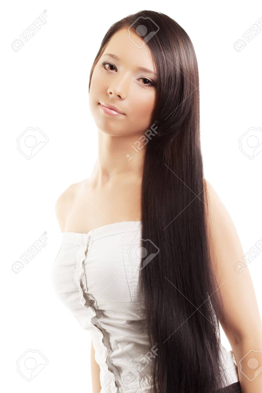 The image of a woman with a luxurious, shiny and beautiful hair Stock Photo - 9037836