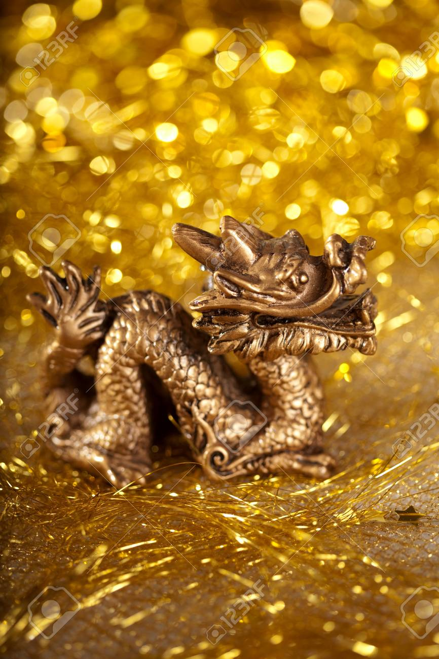 Dragon symbol of the year 2012 on a bright background bokeh Stock Photo - 11527687