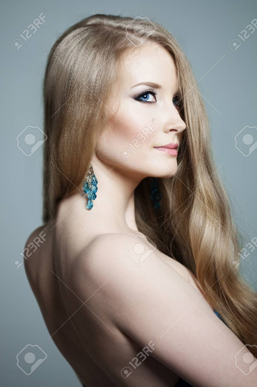 Beautiful woman with a volumetric hair Stock Photo - 14797688