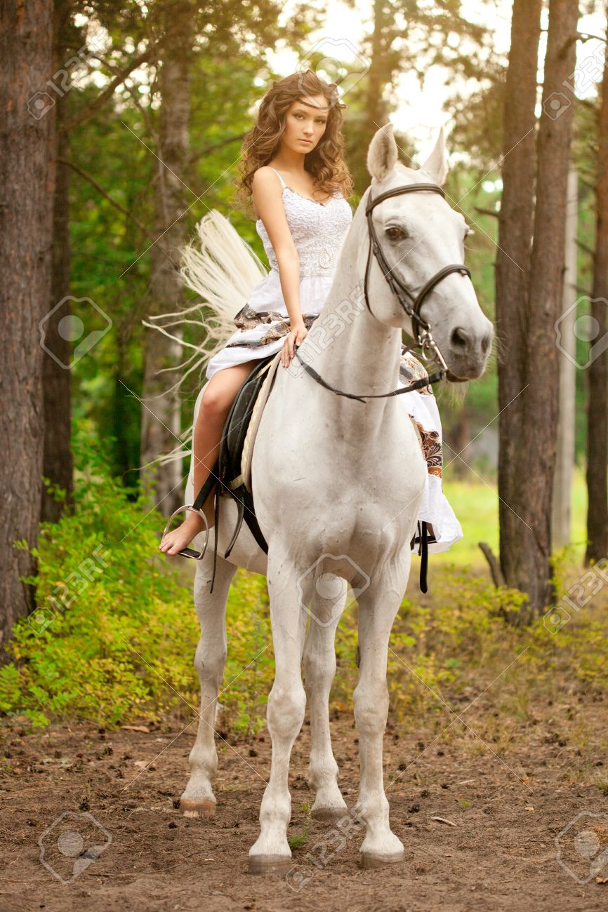 Beautiful Woman On A Horse Horseback Rider Woman Riding Horse Stock Photo Picture And Royalty Free Image Image 26682449