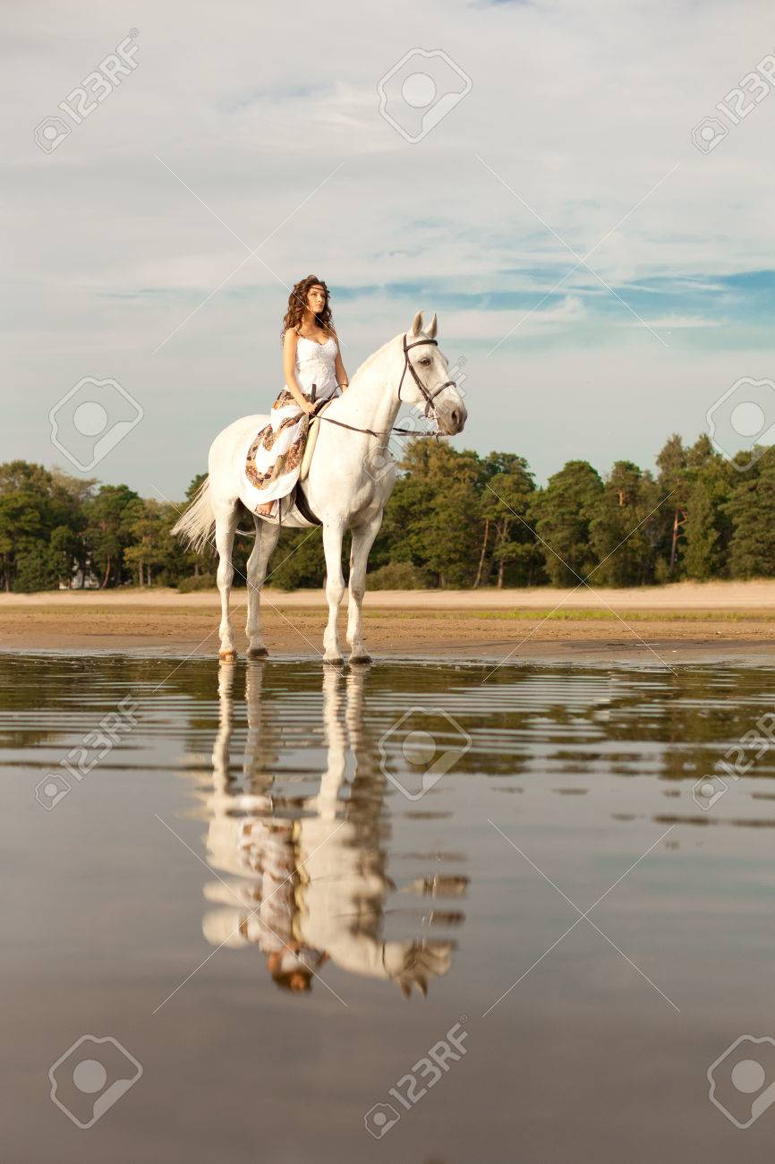 Beautiful Woman On A Horse Horseback Rider Woman Riding Horse Stock Photo Picture And Royalty Free Image Image 26682473