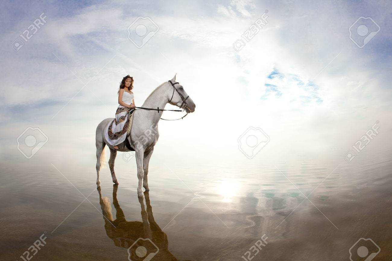 Beautiful Woman On A Horse Horseback Rider Woman Riding Horse Stock Photo Picture And Royalty Free Image Image 26682520