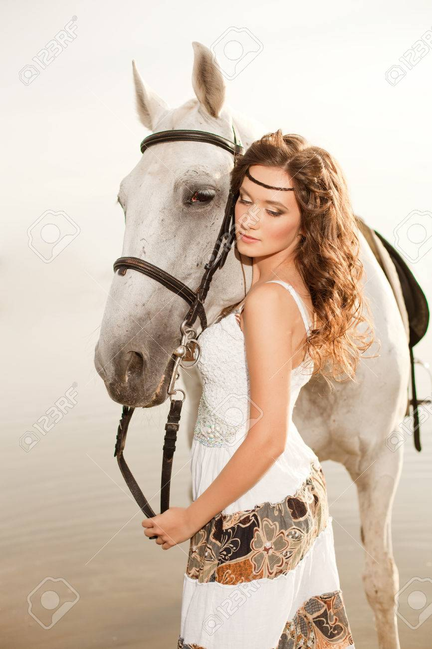 Beautiful Woman On A Horse Horseback Rider Woman Riding Horse Stock Photo Picture And Royalty Free Image Image 26681122