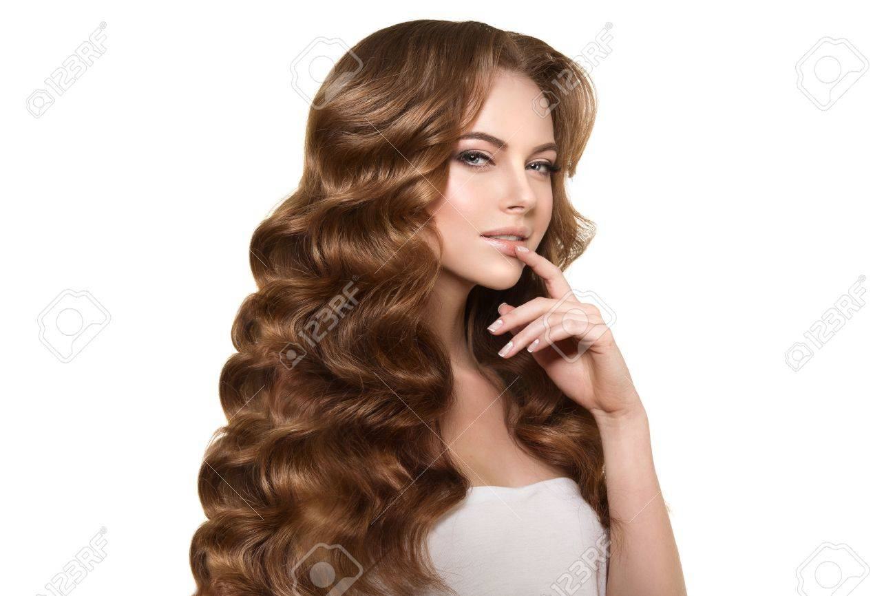 Long Hair. Waves Curls Hairstyle. Stock Photo, Picture And Royalty ...