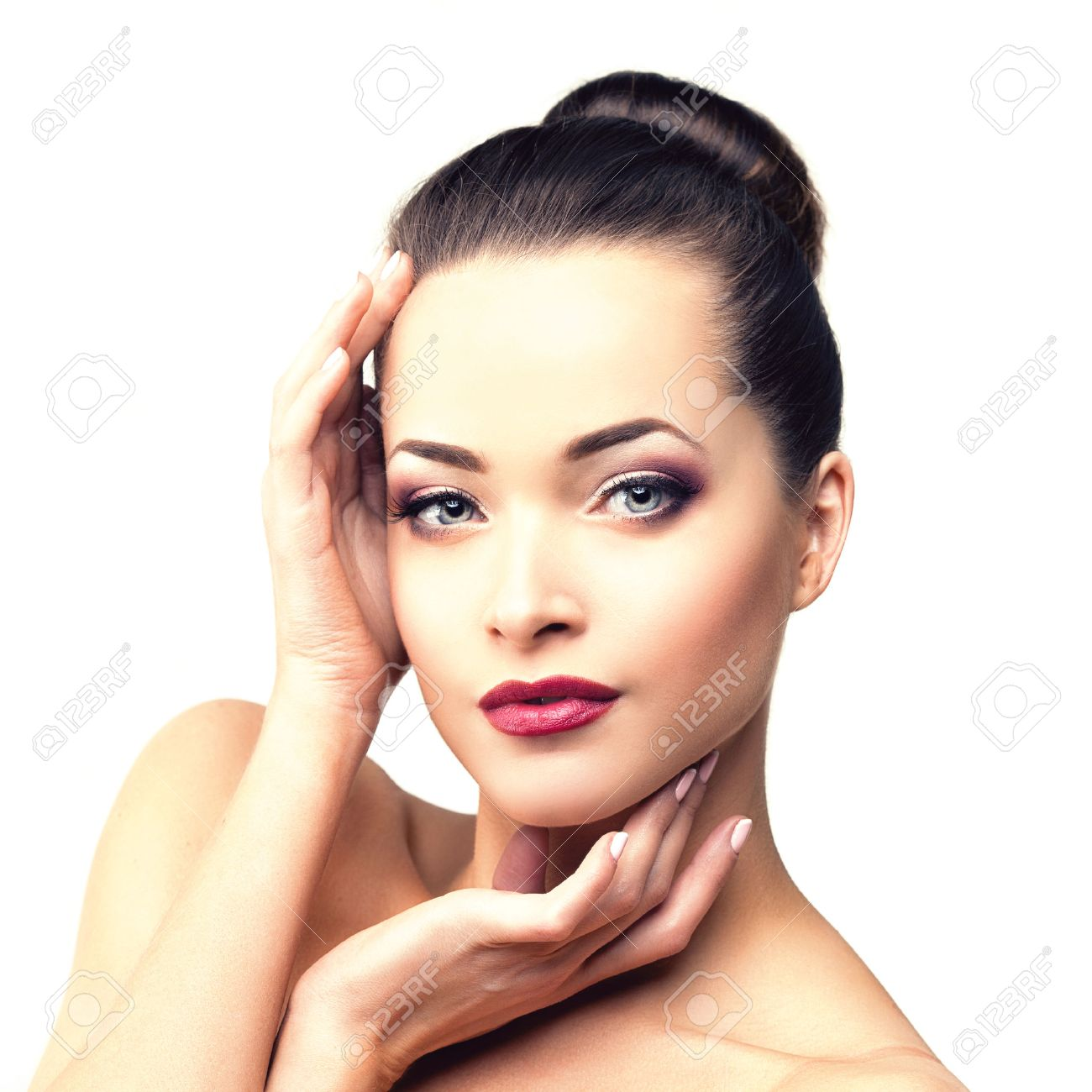 Beautiful Model Woman In Beauty Salon Makeup Young Modern Girl Stock Photo Picture And Royalty Free Image Image 51253386