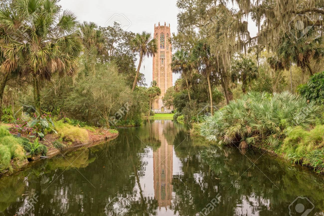 The Singing Tower In Bok Tower Gardens Near Lake Wales, Florida ...