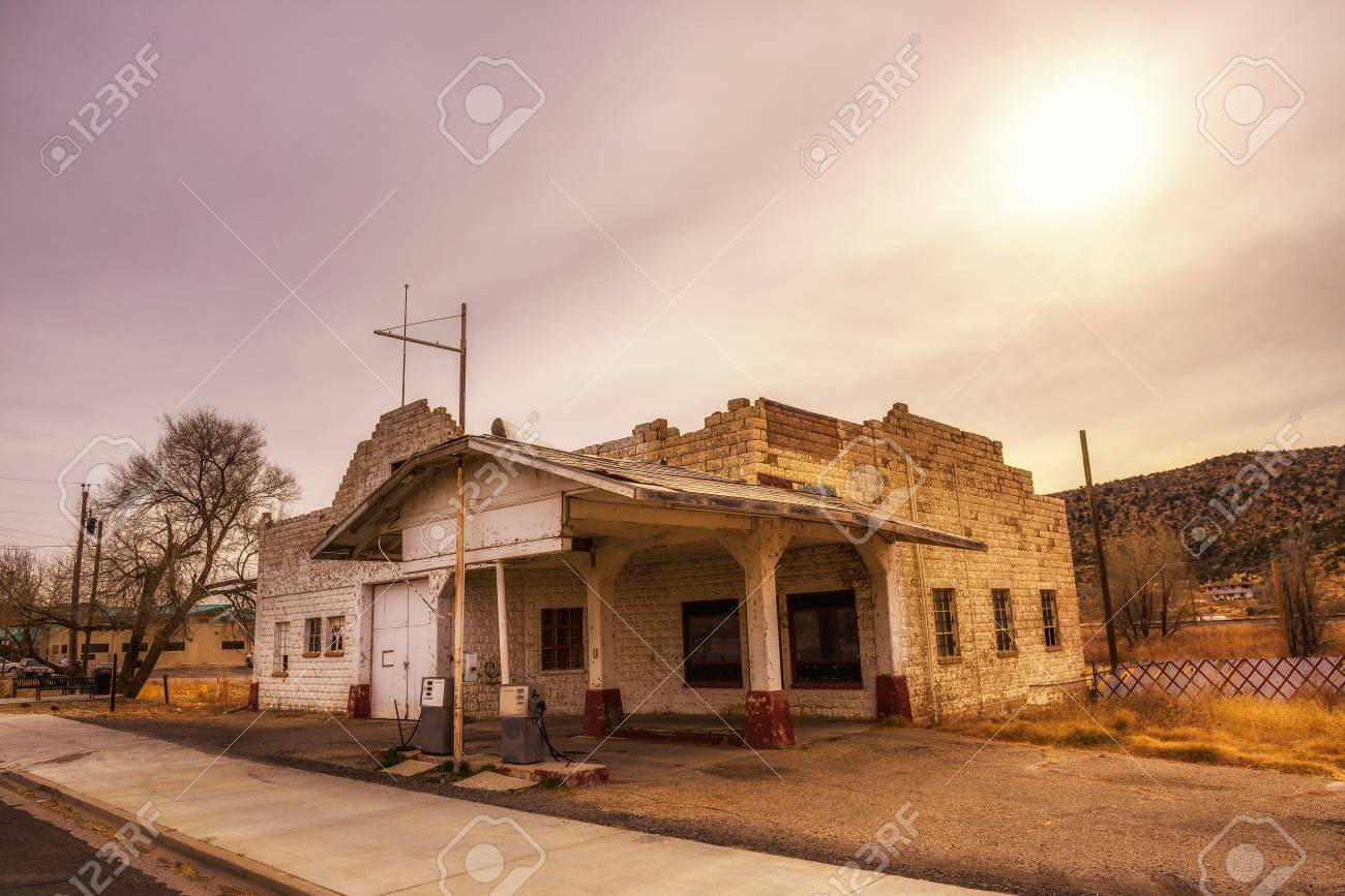 Abandoned Gas Station On Historic Route 66 In Arizona Stock Photo Picture And Royalty Free Image Image 101863950