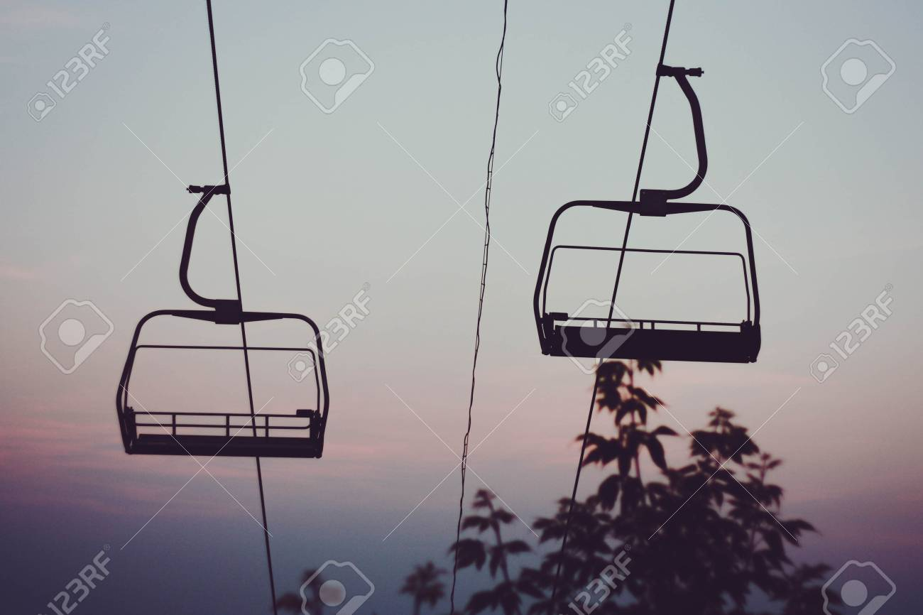 Abandoned Cable Car Against The Sky Stock Photo, Picture And Royalty ...