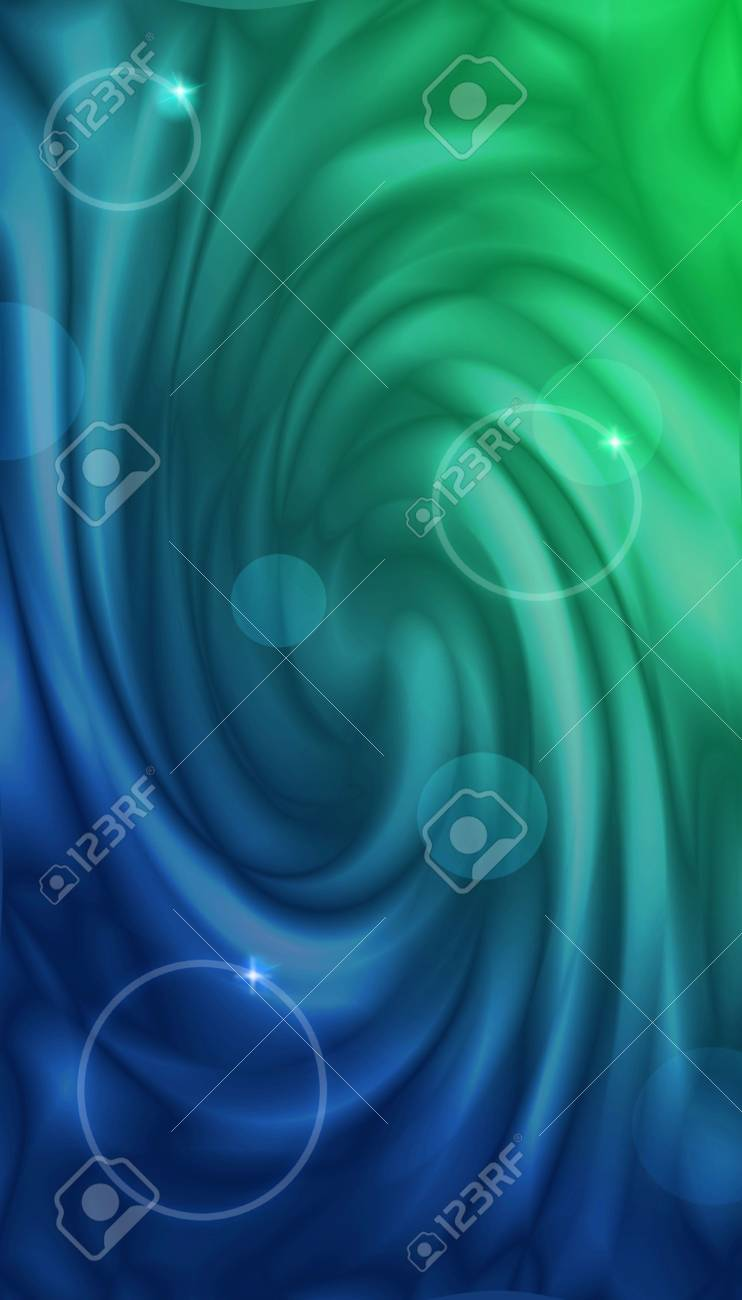 Abstract Wallpaper With Blue Green Gradient In Form Of Color