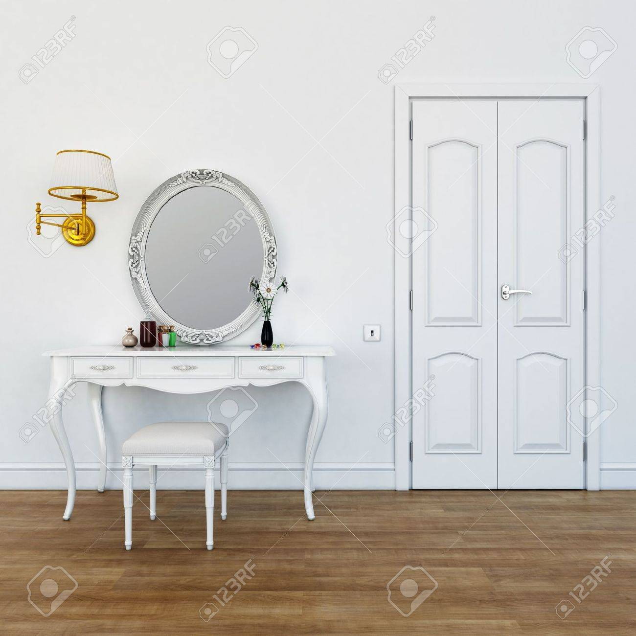 dressing table with make-up colors Stock Photo - 12761427