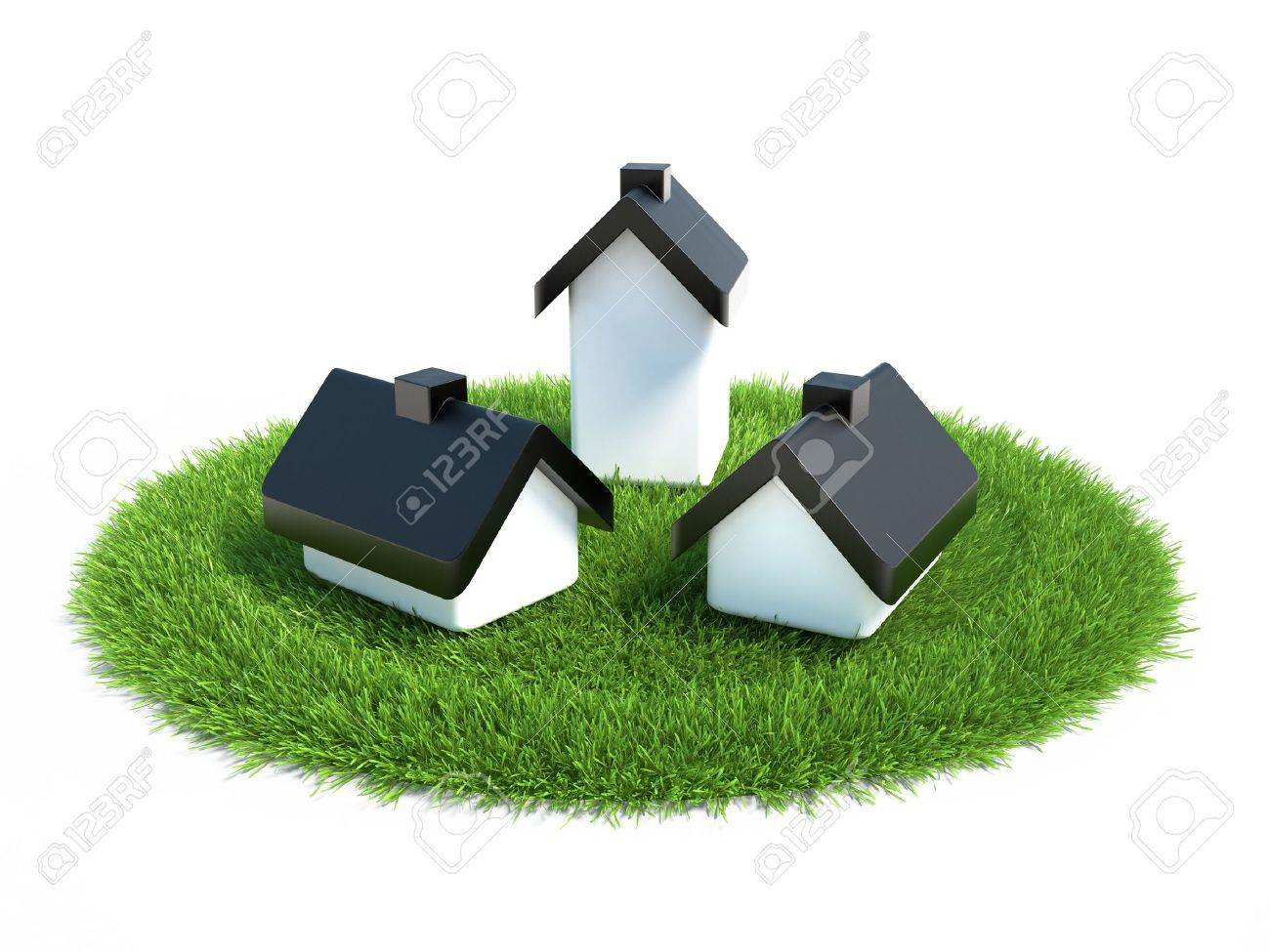 house located on the grass symbolizing land for the construction of housing - 12761444